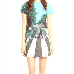Alice + Olivia X Beatles Abbey Road beaded dress